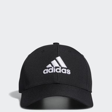 Men Golf Black Performance Cap