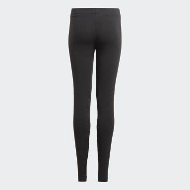 เด็กผู้หญิง Sport Inspired สีดำ กางเกงรัดรูป adidas Essentials