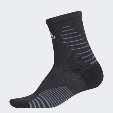 Running Black Running Mid-Crew Socks
