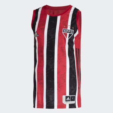 Camisa São Paulo FC 2 Vermelho Homem Basquete