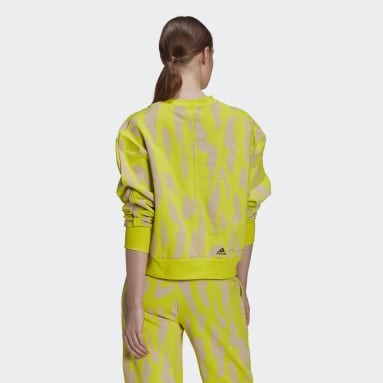 Women's adidas by Stella McCartney Yellow adidas by Stella McCartney Sweatshirt