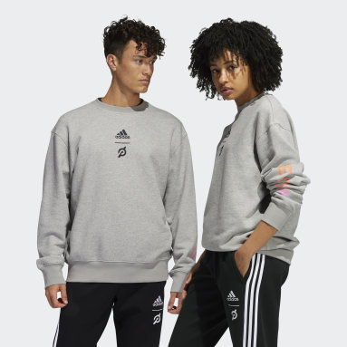 Sweat-shirt adidas x Peloton Crew (Non genré) Gris Fitness Et Training