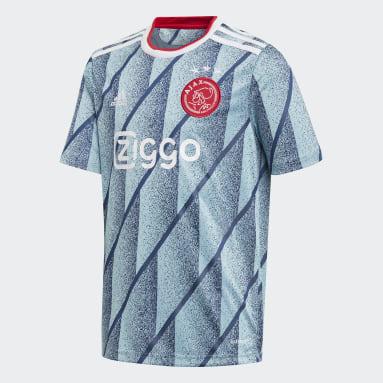 Barn Fotboll Blå Ajax Amsterdam Away Jersey
