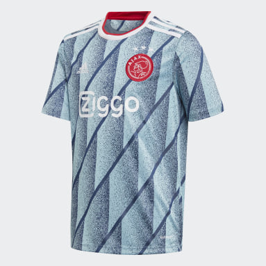 Kinderen Voetbal blauw Ajax Amsterdam Uitshirt