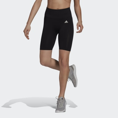Bermuda Legging Sem Costuras adidas Designed 2 Move AEROREADY Preto Mulher Training