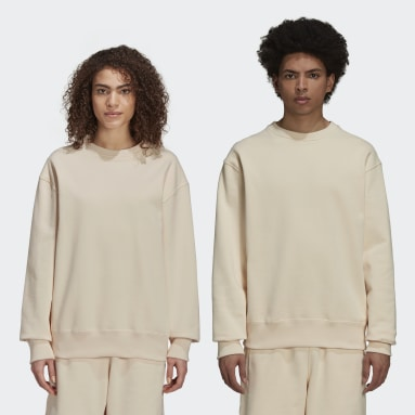 Originals Beige Pharrell Williams Basics Crew Sweatshirt (Gender Neutral)