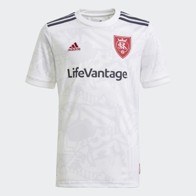 Youth Soccer White Real Salt Lake 21/22 Away Jersey