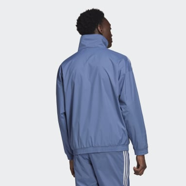 Men's Originals Blue Adicolor 3D Trefoil 3-Stripes Track Jacket