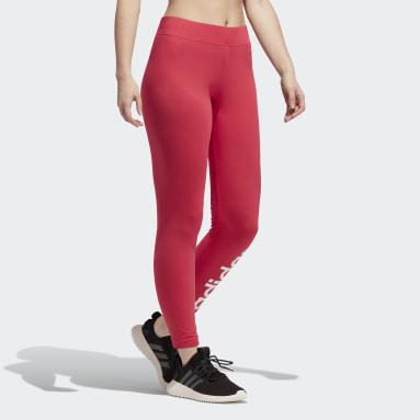 Mallas Essentials Linear - Corte Bajo Rosa Mujer Training
