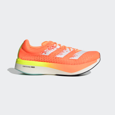 Men Running Orange Adizero Adios Pro Shoes