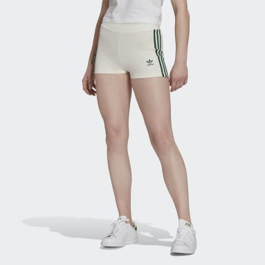Women's Originals White Tennis Luxe Booty Shorts