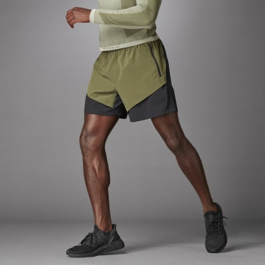 Men Running Green Studio Tech Shorts