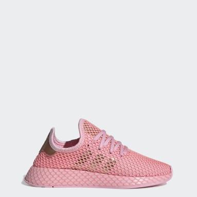 Women Originals Pink Deerupt Runner Shoes