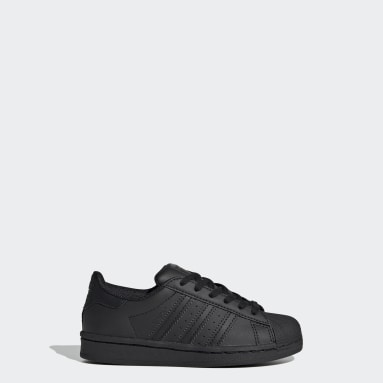 Kids 4-8 Years Originals Black Superstar Shoes