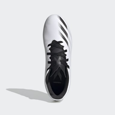 Children Soccer White X Ghosted.4 Flexible Ground Soccer Cleats
