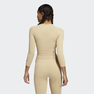 Formotion Cropped Training T-skjorte Beige