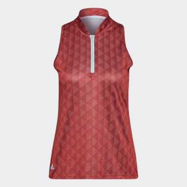 Polo Primegreen HEAT.RDY Racerback Sleeveless rouge Femmes Golf