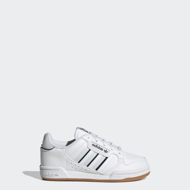 Kids 4-8 Years Originals White Continental 80 Stripes Shoes