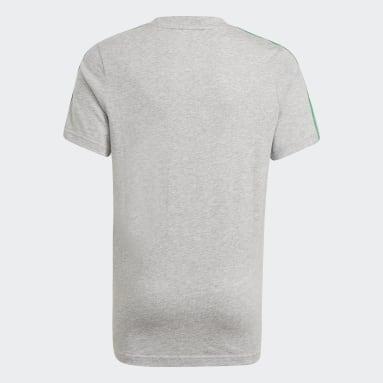 Boys Sportswear Grey adidas Essentials 3-Stripes Tee