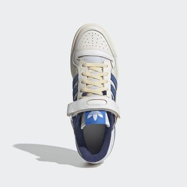 Men Originals White Forum 84 Low Blue Thread Shoes