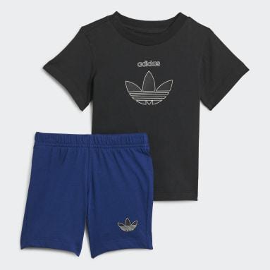 Completo adidas SPRT Shorts and Tee Nero Bambini Originals