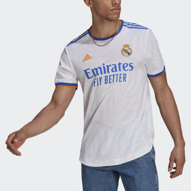 Maillot Domicile Real Madrid 21/22 Authentique Blanc Football