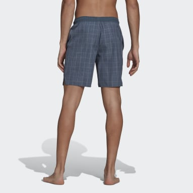 Heren Zwemmen Grijs Check Swim Short