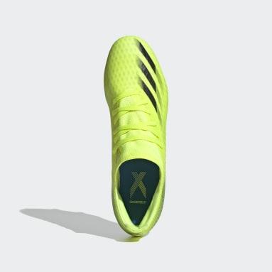 Bota de fútbol X Ghosted.3 césped natural húmedo Amarillo Fútbol