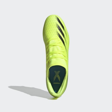 Fotbal žlutá Kopačky X Ghosted.3 Soft Ground