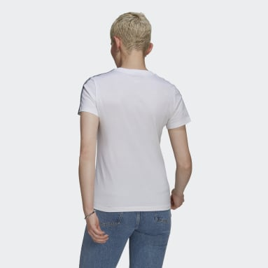 Women Originals White Adicolor 3D Trefoil Slim Tee