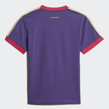 Men Originals Purple Short Sleeve Vintage T-Shirt