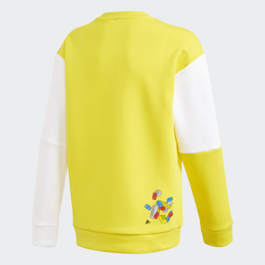 Sweat-shirt adidas x Classic LEGO® Bricks Jaune Enfants Fitness Et Training