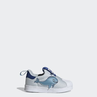 Kinder Originals Superstar 360 Primeblue Schuh Blau