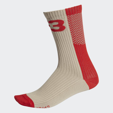 Women's Y-3 Beige Y-3 Colorblock Socks