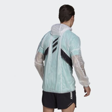 Men TERREX White Terrex Agravic Pro WIND.RDY Windbreaker