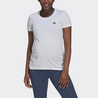 Women Sport Inspired White Essentials Cotton Tee (Maternity)
