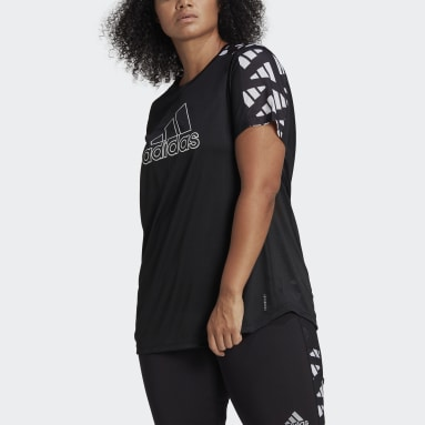 Women Running Black Own The Run Celebration T-Shirt (Plus Size)
