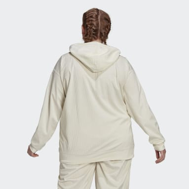 Women Originals White Hoodie (Plus Size)