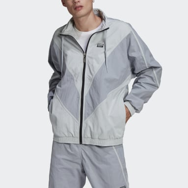 Men's Originals Grey R.Y.V. V-Line Woven Track Jacket