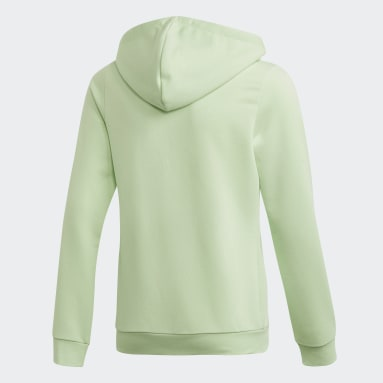 Youth 8-16 Years Gym & Training Green Linear Hoodie