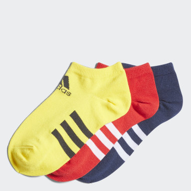 Children Training Yellow Low Socks 3 Pairs