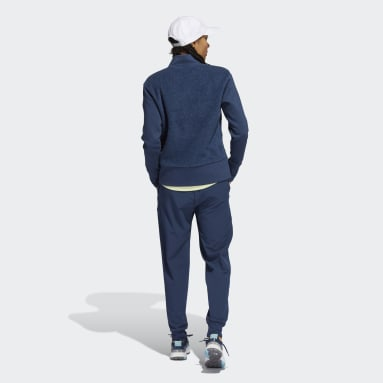 Women's Golf Blue Equipment Recycled Polyester Full-Zip Jacket