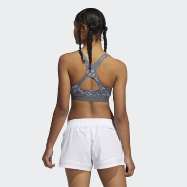 Women Cricket Grey Believe This Medium Support Allover Print Bra