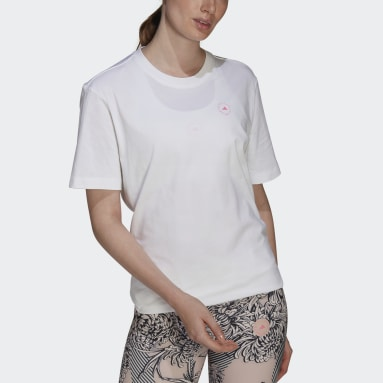 Women's adidas by Stella McCartney White adidas by Stella McCartney Cotton Tee