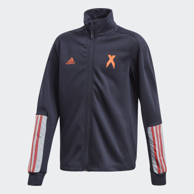 Youth 8-16 Years Gym & Training Blue AEROREADY Football-Inspired Track Top