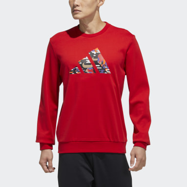Men Sportswear Red CNY Graphic Sweatshirt