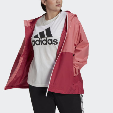Women City Outdoor Pink BSC 3-Stripes RAIN.RDY Jacket