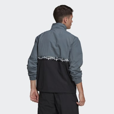 Men's Originals Black Adicolor Sliced Trefoil Track Jacket
