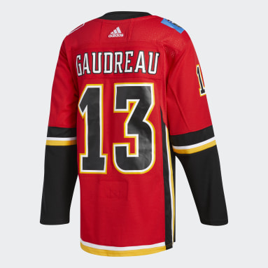 Maillot Domicile Authentique Pro Flames Gaudreau rouge Hockey