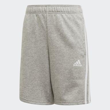 Short Must Haves 3-Stripes Grigio Ragazzo Yoga